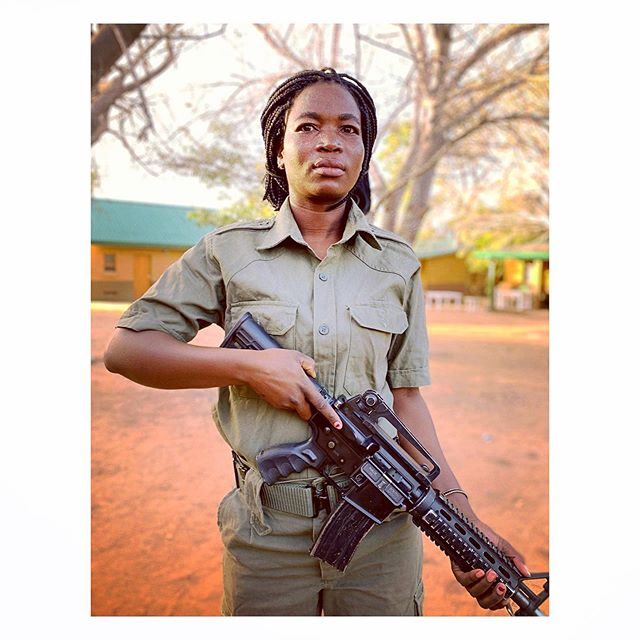 Laurenciana, Zinave National Park Anti-Poaching Ranger, and mother of 2.