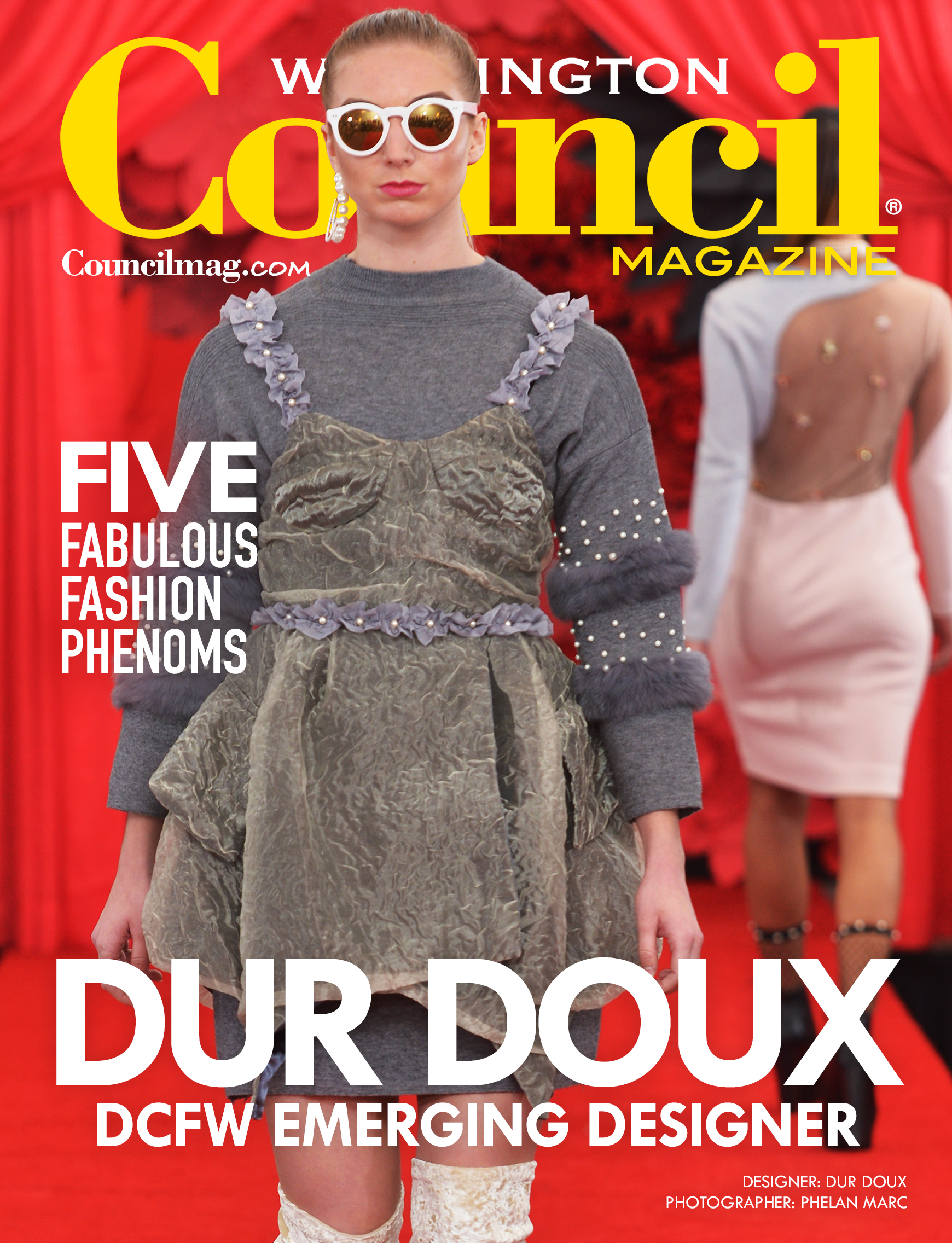 Dur Doux was the March 2018 cover story that featured multiple designers from DC Fashion Week.