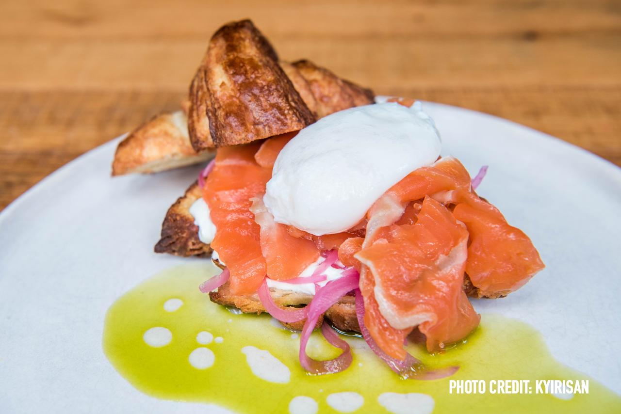 House cured salmon gravalax