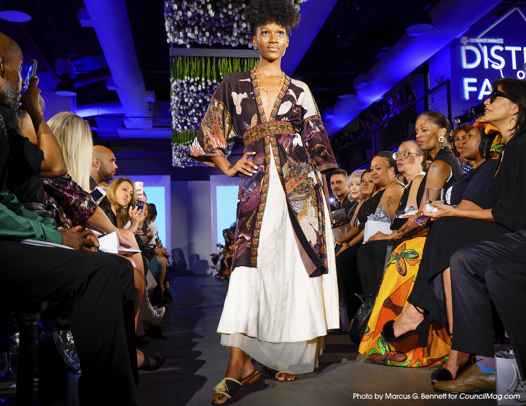 Model wears an outfit from Peruvian Connection at the District of Fashion Runway Show.