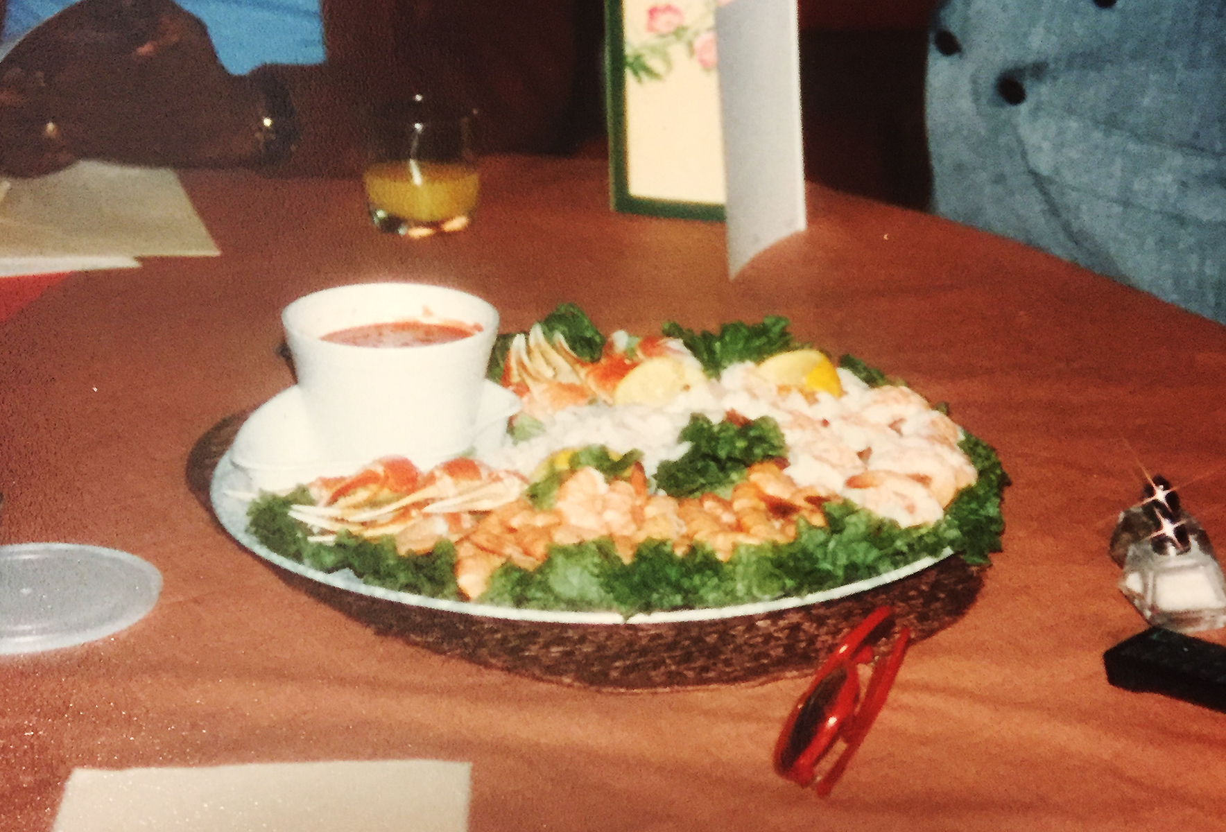 A seafood platter from Red Lobster at my grandparents' home, circa mid-1980s. Photos from the Nicholls & Gill families.