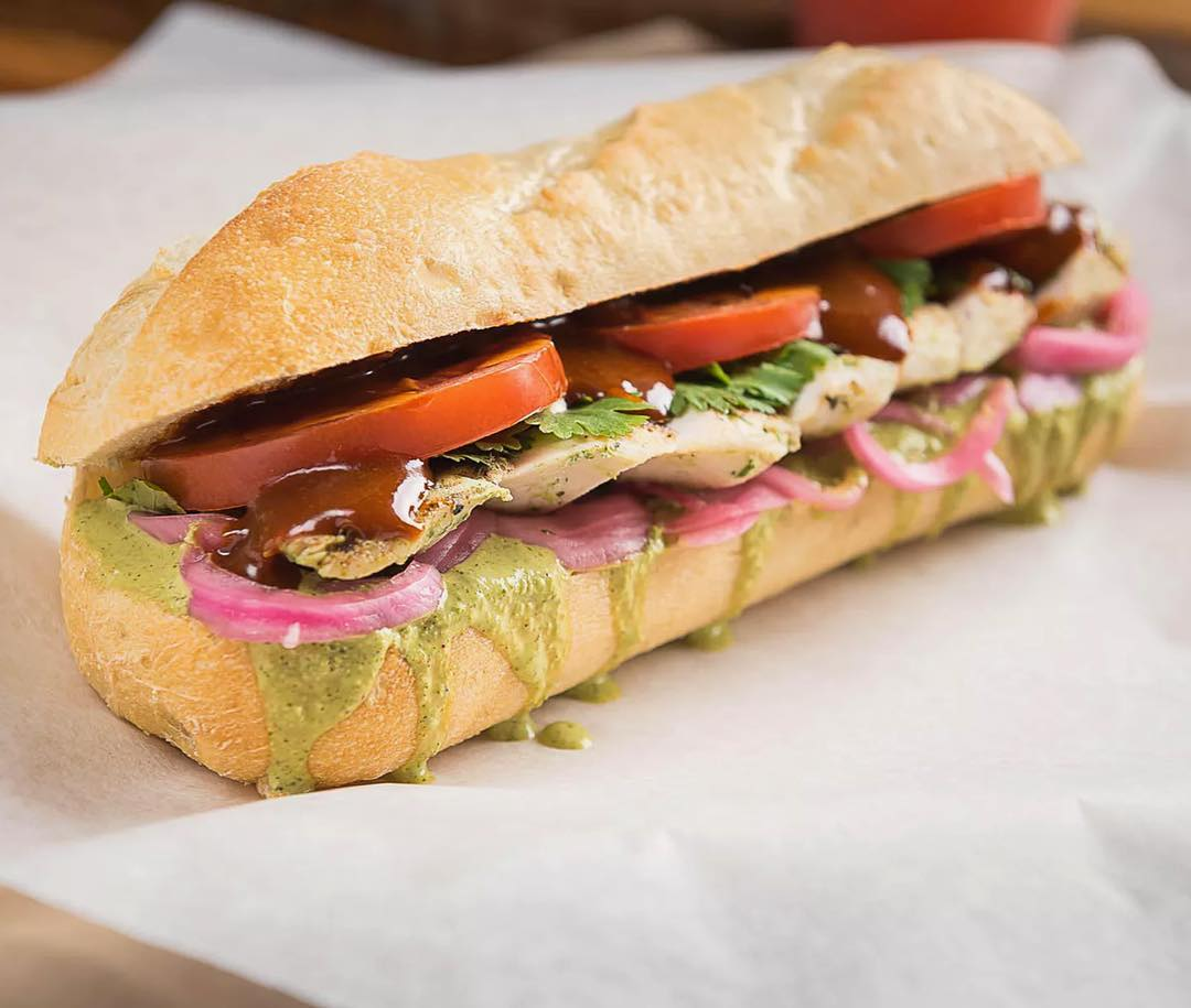 Spicy Adobo sandwich