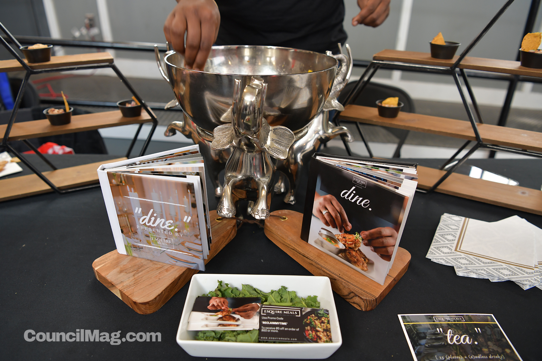 Esquire Meals , is a health conscious gourmet meal prep business. Kenneth Watson's Esquire   Meals – which has been in business for eight years – offers pick-up and delivery as well as catering. In addition, there were representatives from  Gandhi Health Career Services  and  University of Maryland, Baltimore .