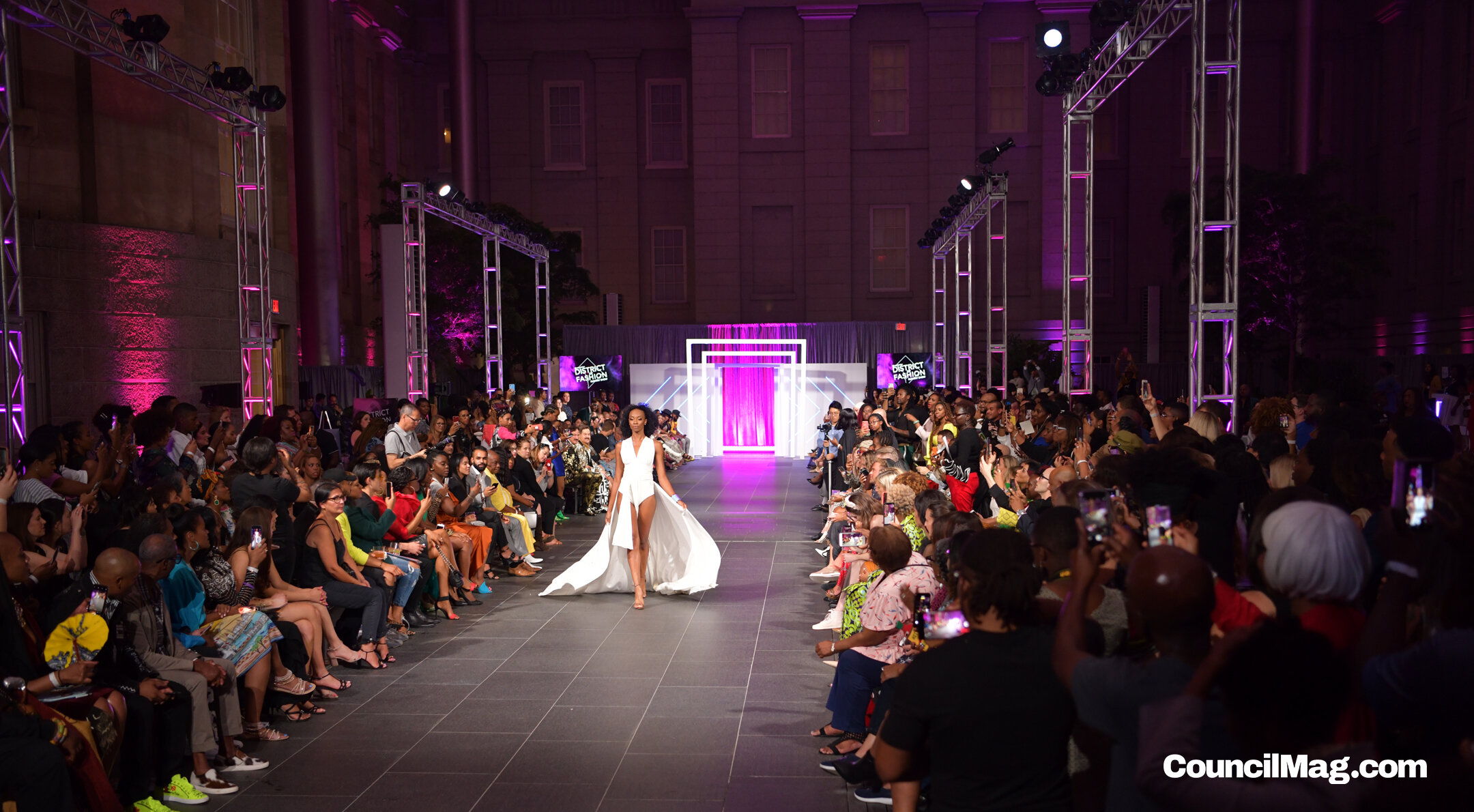 This white creation by Shari Henry opened the District of Fashion Runway Show.