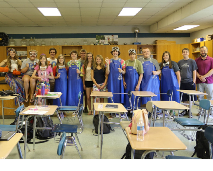 Soon, the Advanced Placement, Chemistry class conducted a lesson on transesterification and Biodiesel officially became part of PCHS.
