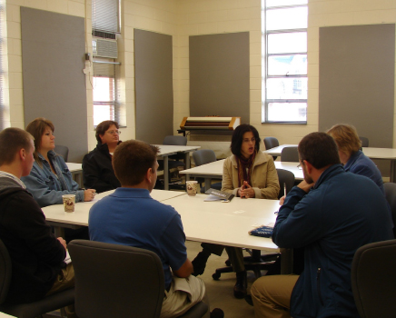 Appalachian State: Dr. Houser and Dr. TaylorWarhorse Solutions: Tawana Weicker.Polk Teachers meet with Appalachian State University to seek collaboration with their biofuel graduate students.
