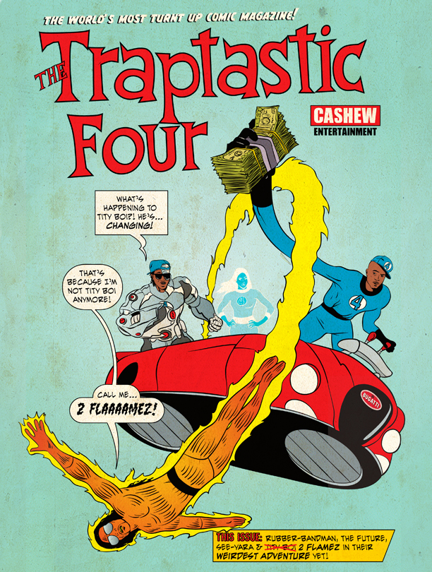 TRAPTASTIC FOUR   by Kenny Keil