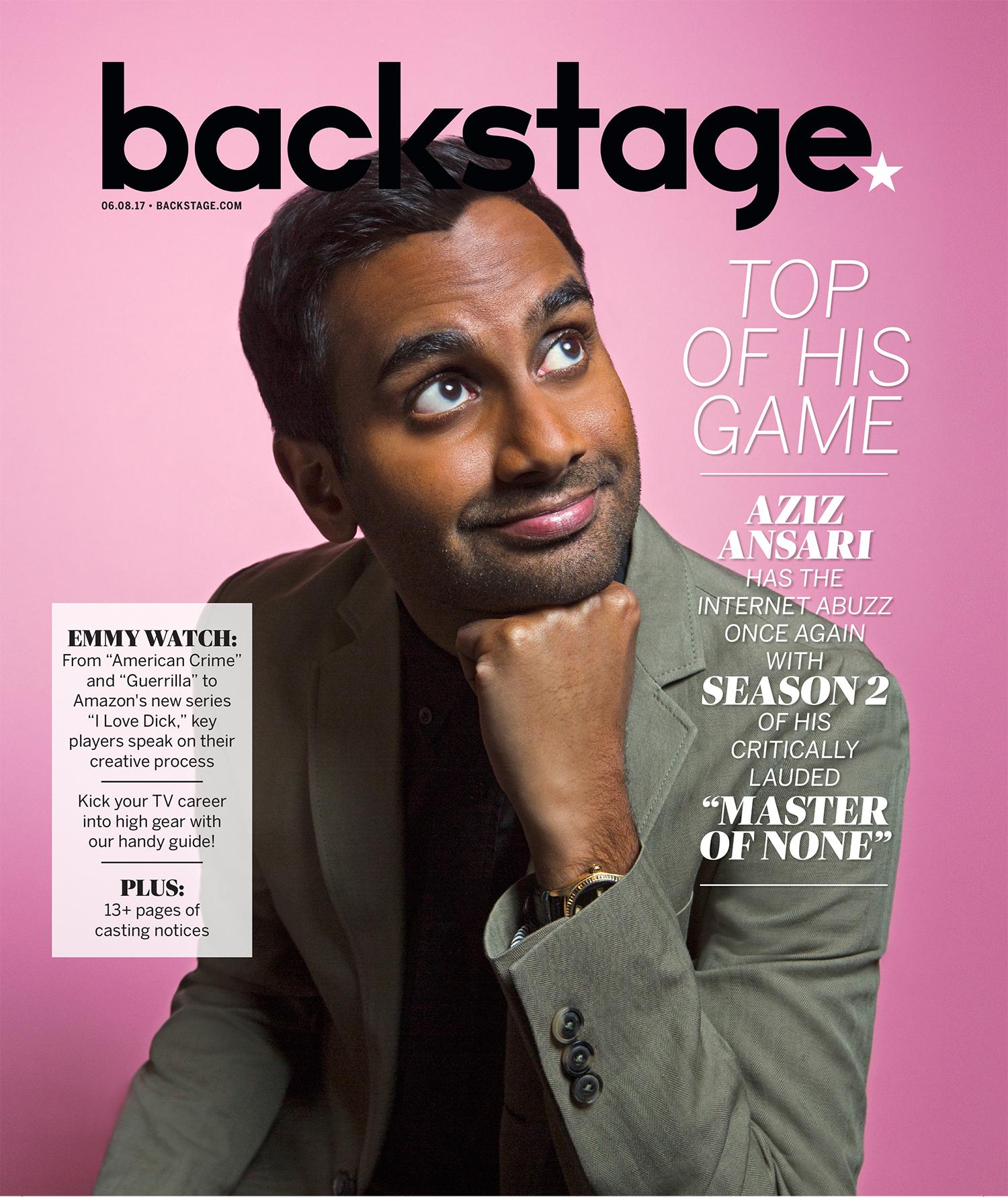 Aziz Ansari   shot: EMILY ASSIRAN  publication: BACKSTAGE