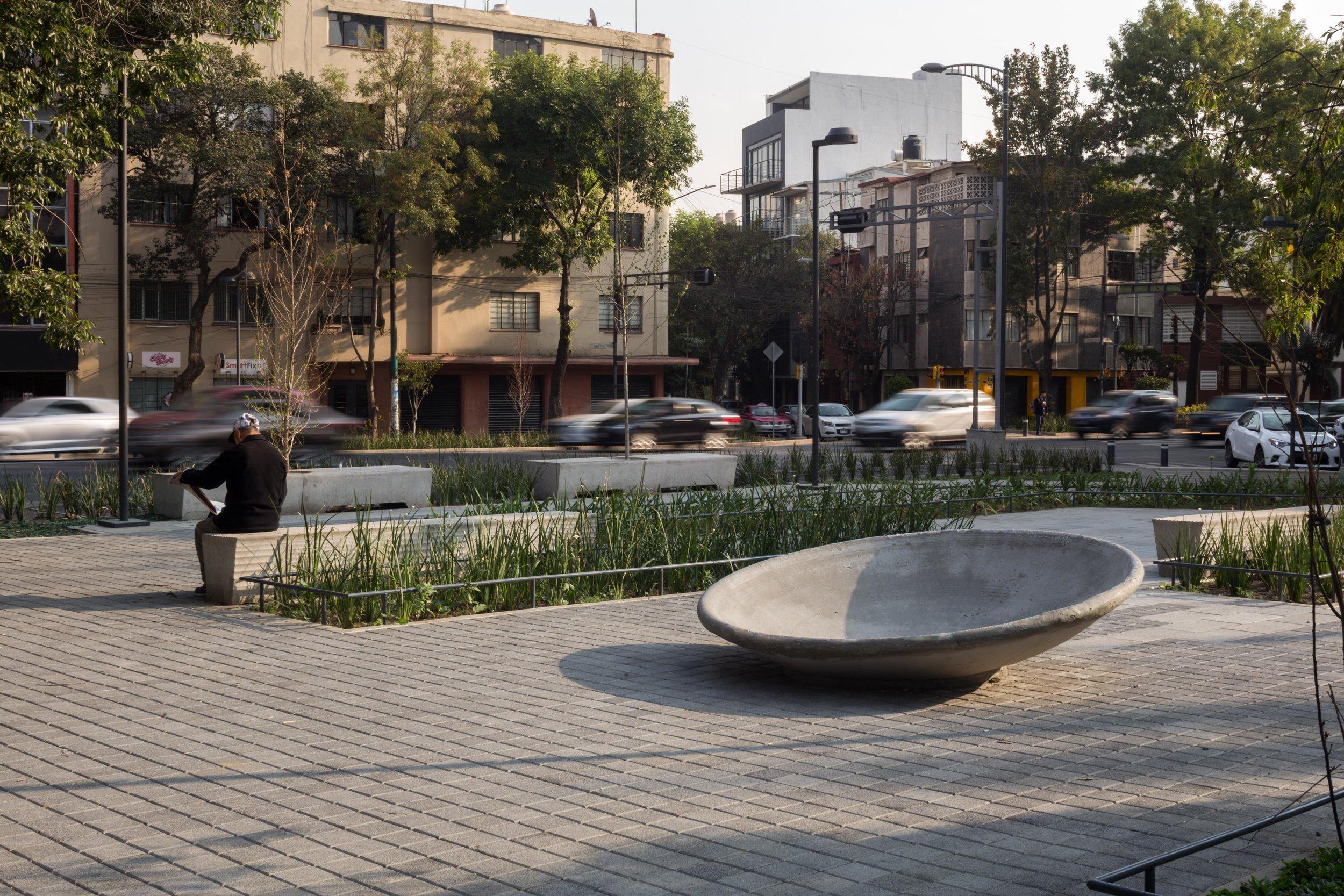 mobiliario urbano de  Unidad de Protocolos  para  AEP   CDMX, 2018