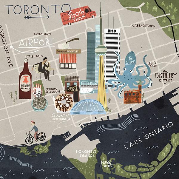 Toronto Map by Steve McCarthy