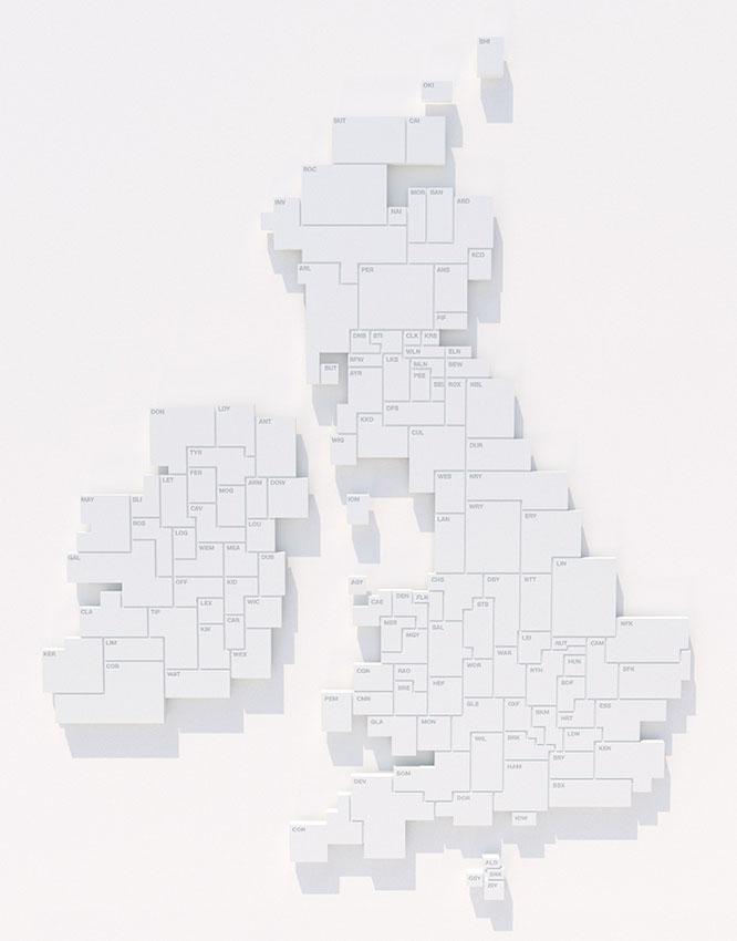 Carta Map by Ken Deegan