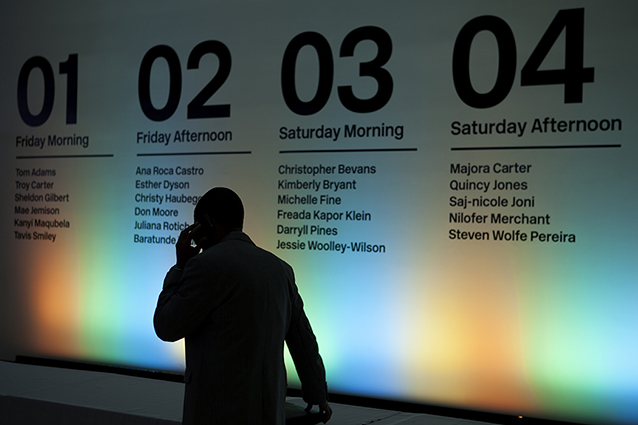 Platform Event Schedule by Ken Deegan/Pentagram