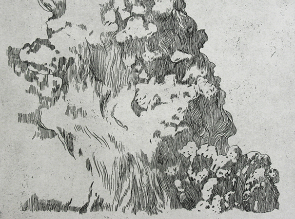 Monumental Activity, etching