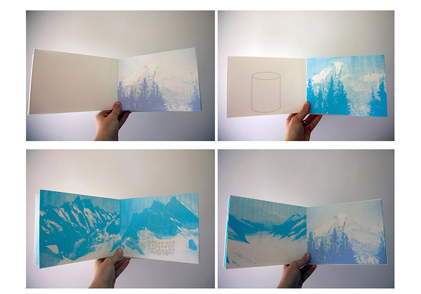 'Cryosphere' book project / Silkscreen Print