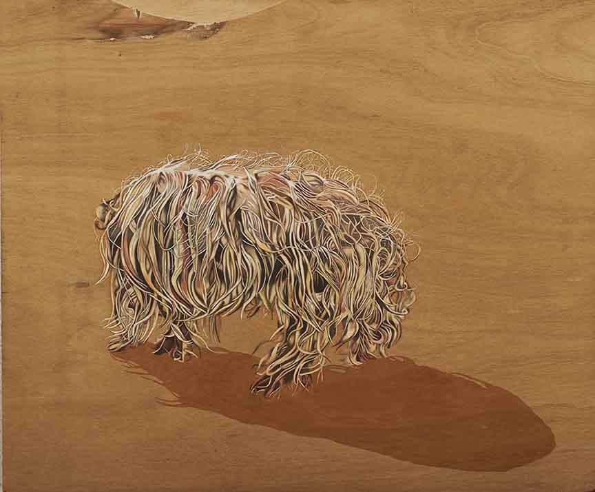3.Paraic Leahy,The Heir, Oil and Varnish on wood, 70x58cm,2013.jpg
