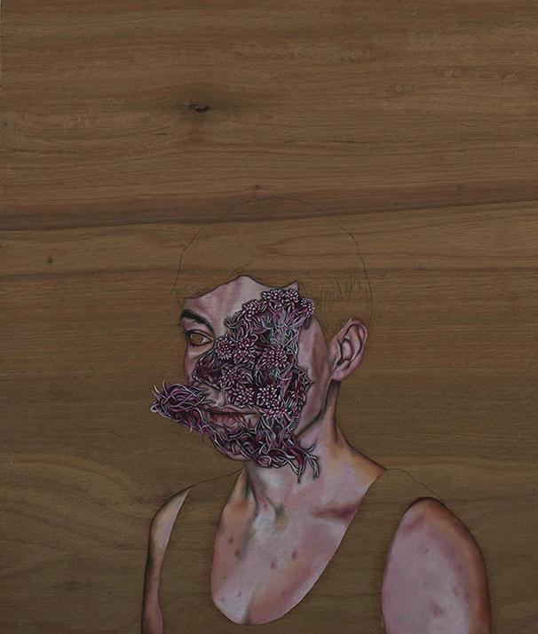 5.Paraic Leahy,Maidens of the day1.,Oil on wood,42x50cm,2014.jpg