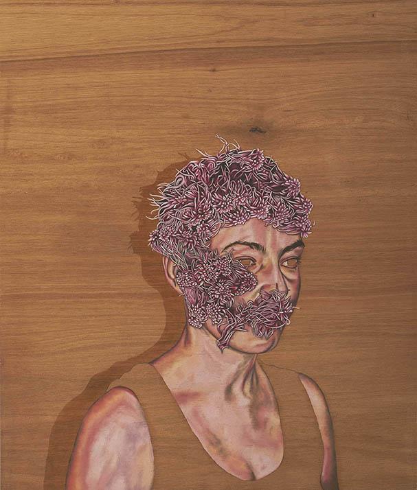 6.Paraic Leahy,Maidens of the day 2,Oil on wood,42x50cm,2014.jpg
