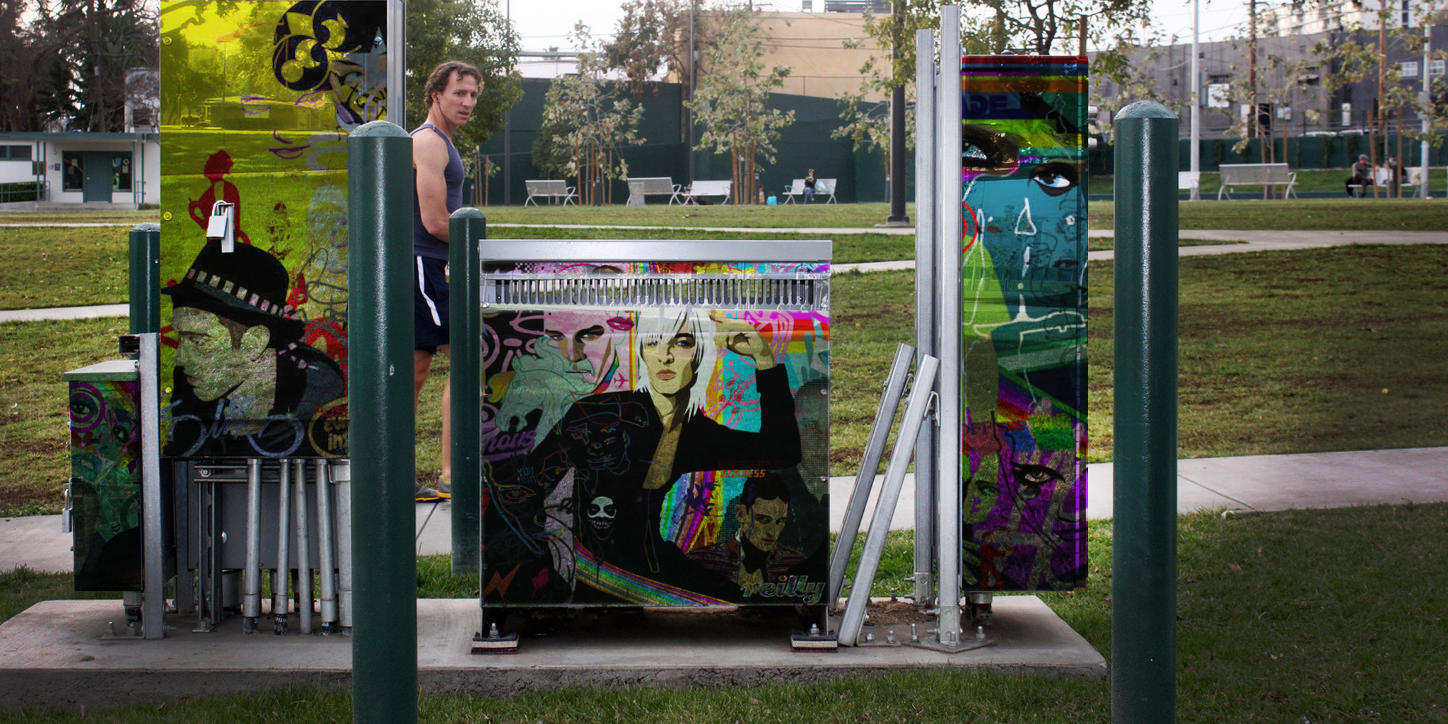 INSTALLATION  Seattle Parks & Recreation  Various locations were identified throughout the city to hide eyesore equipment. Leveraging local artists, the solution of cling graphics provided the perfect solution for adding an urban vibe and celebrating the arts.