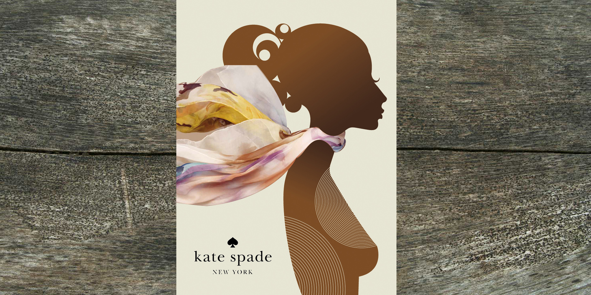 ADVERTISING  Kate Spade  To launch new fall scarves and color palettes, this proposed ad mixed 2D and 3D elements so that the color and depth of the product leapt off the page.