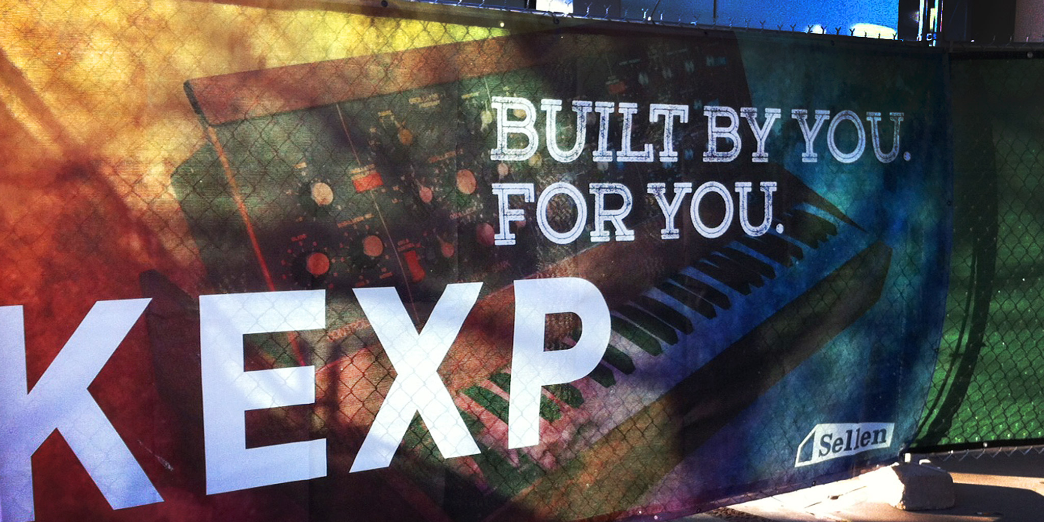 ENVIRONMENTAL  KEXP 90.3  As Seattle's beloved alterative music radio station needed to grow and move locations, they neededimpactful and exciting visuals to line the construction walls. We wanted to convey the energy and relevance that all have come to know about KEXP while leveraging their established motto and tagline. We used live entertainment images, textural layers and hip musical icons to blend together a narrative that spoke clearly to Seattle music lovers.