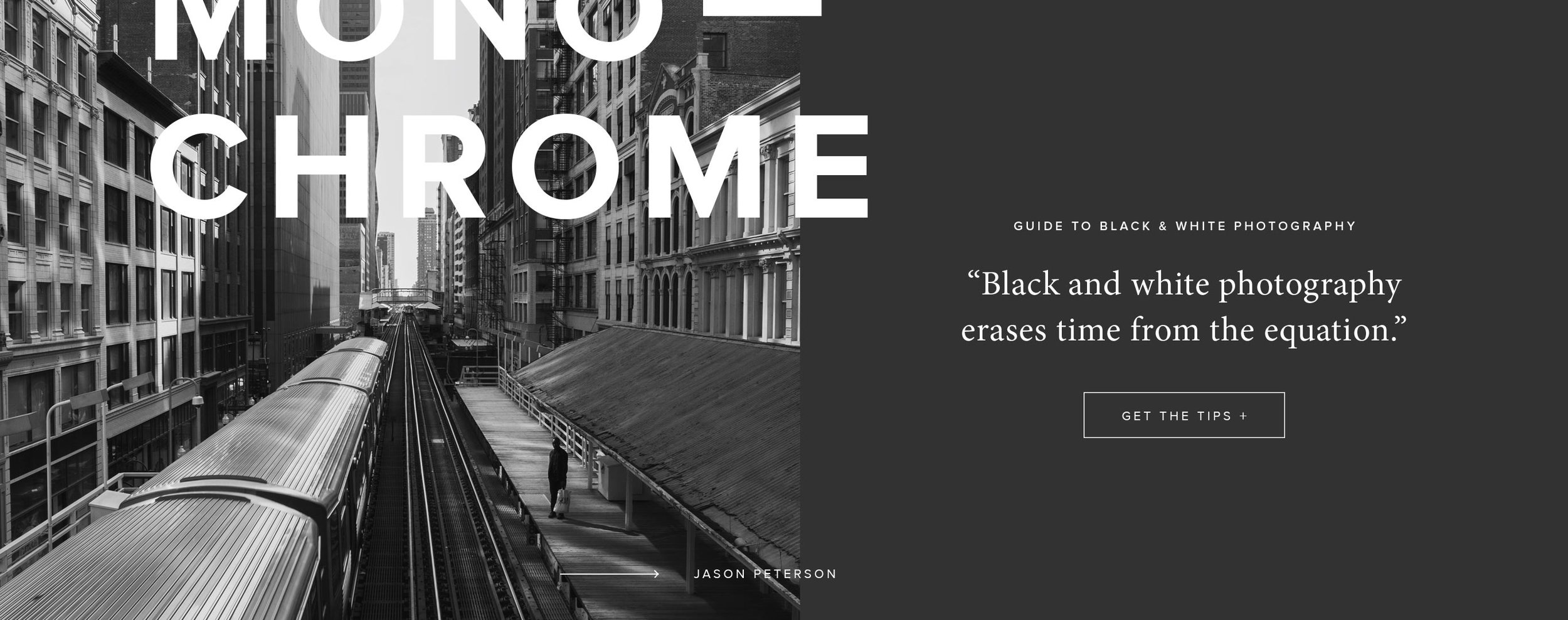 Content — Banner Design for Black & White Photography Tips