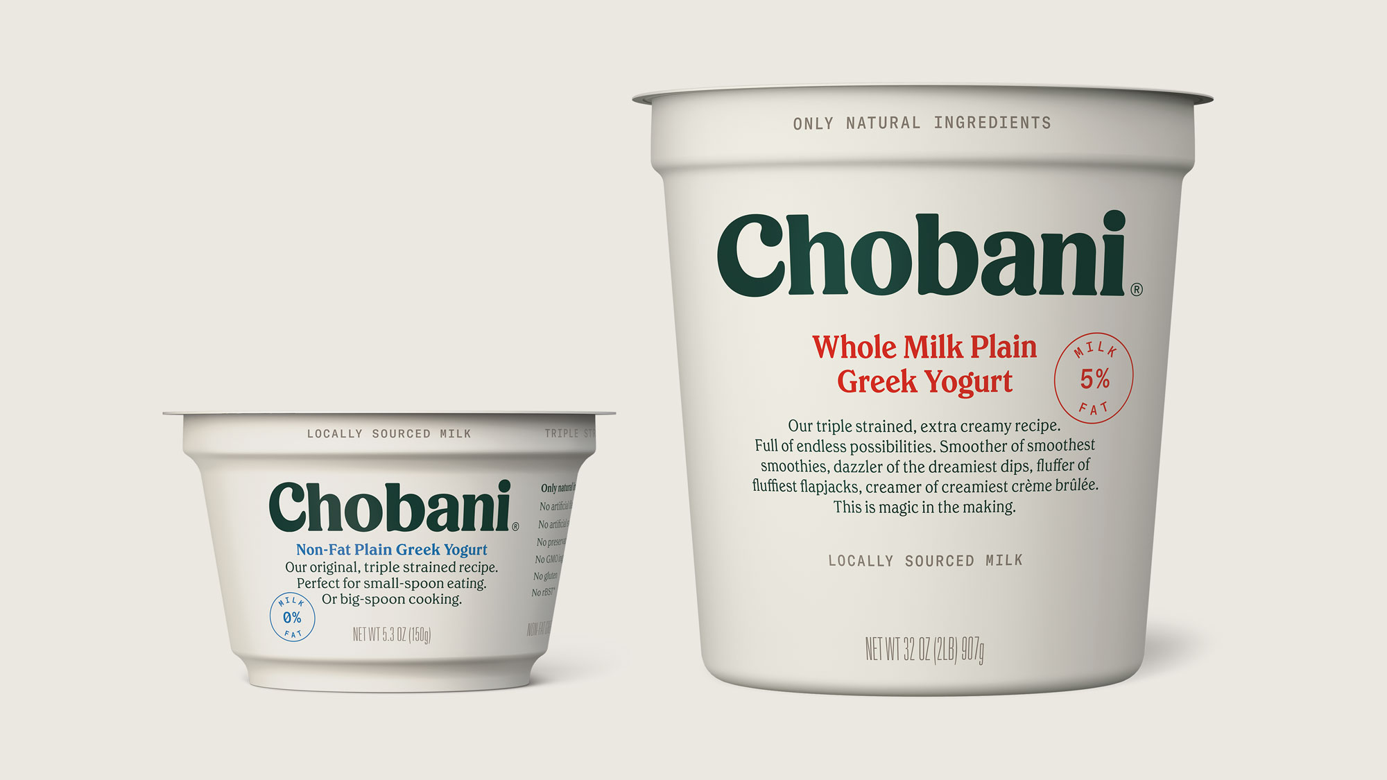 Chobani® Greek Original Plain Non-Fat Yogurt