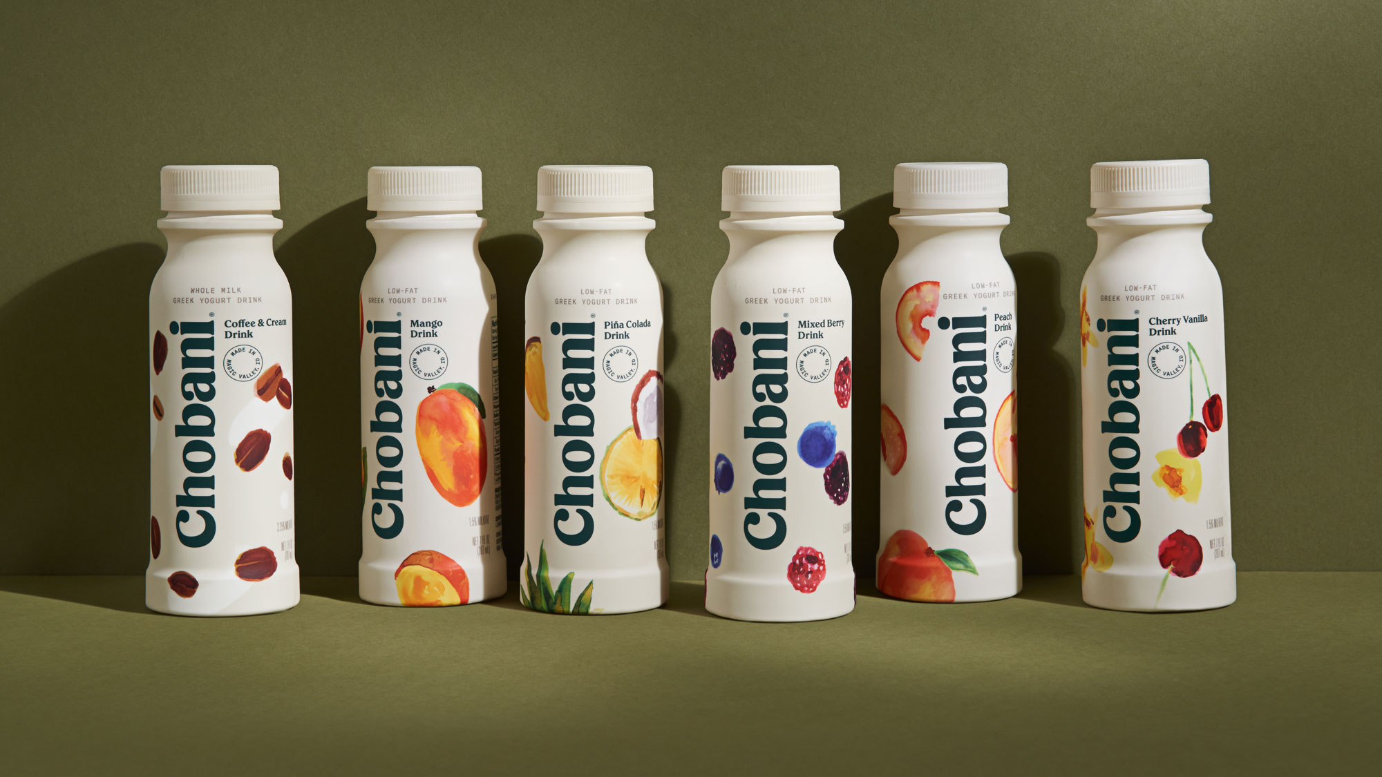Chobani® Greek drink family