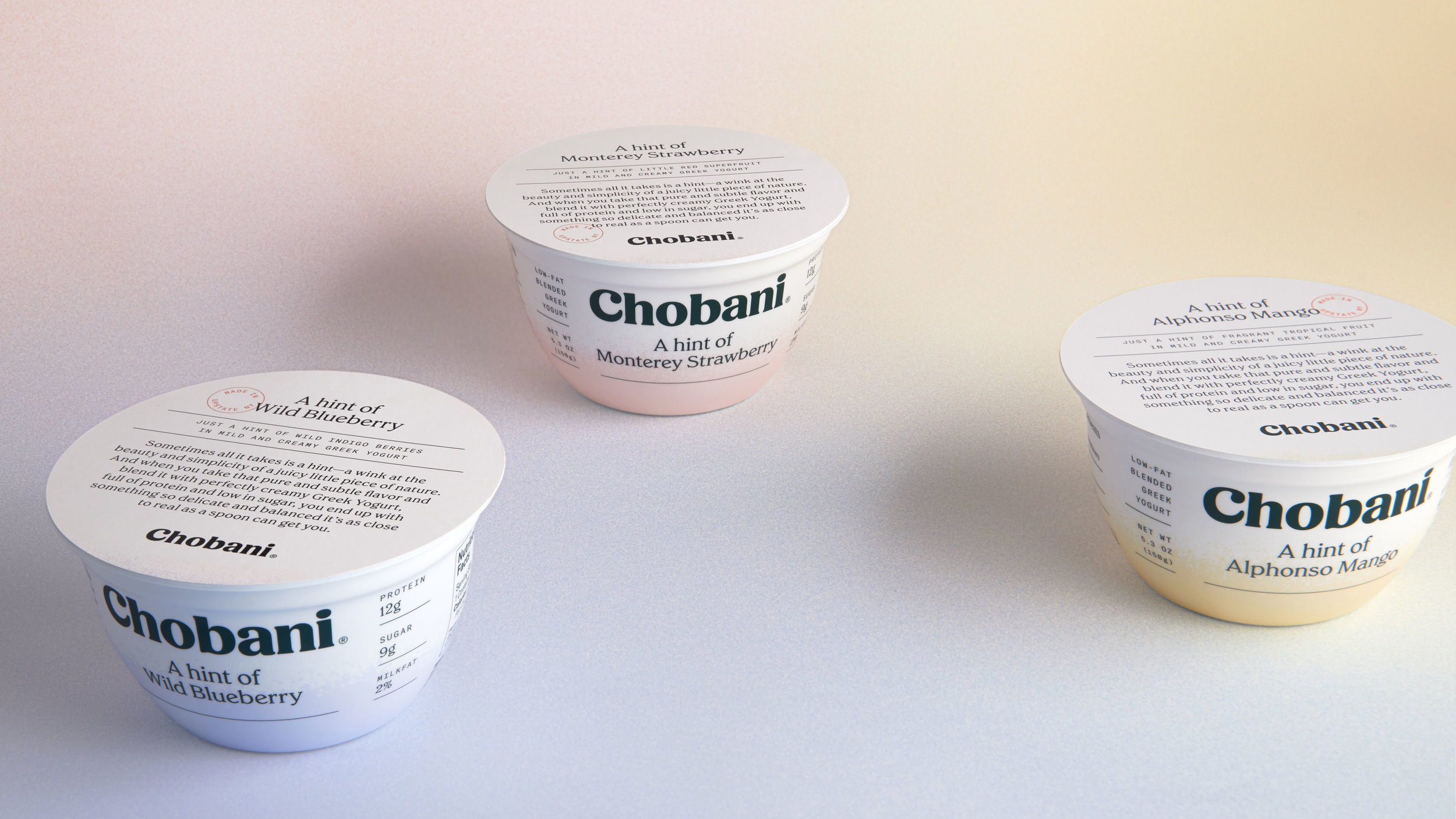 "Chobani® ""A hint of"" family"