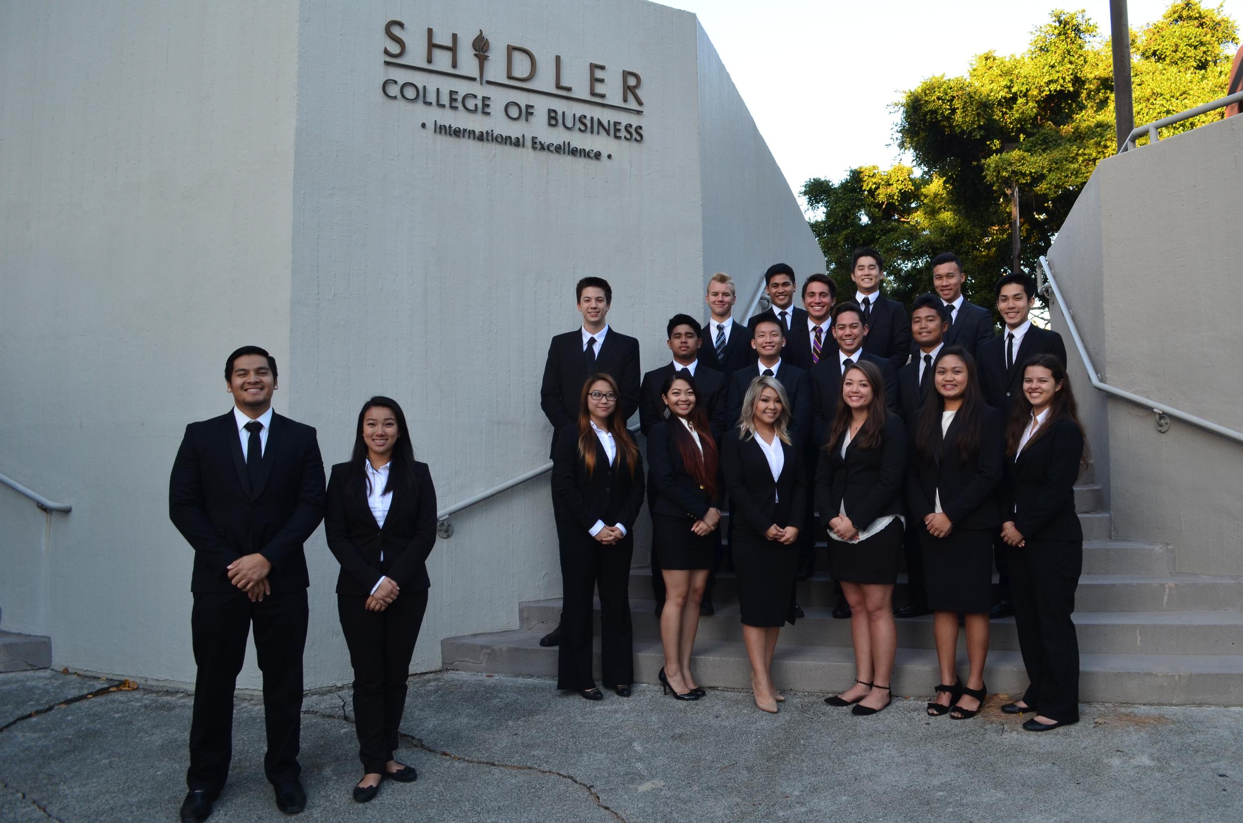 The Epsilon class: 19 members, initiated Fall 2014
