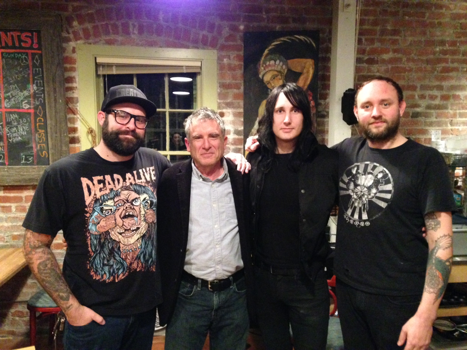 Truly and Honor to meet Michael Grais! from left to right: Brian, Michael Grais, Jef and Josh.