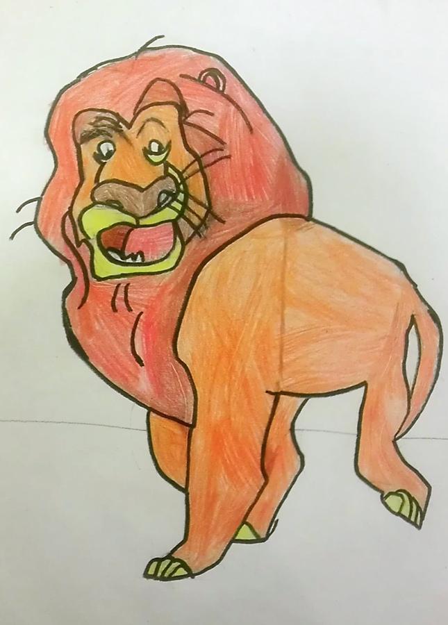 by: carlos serrano, age 8, color pencil