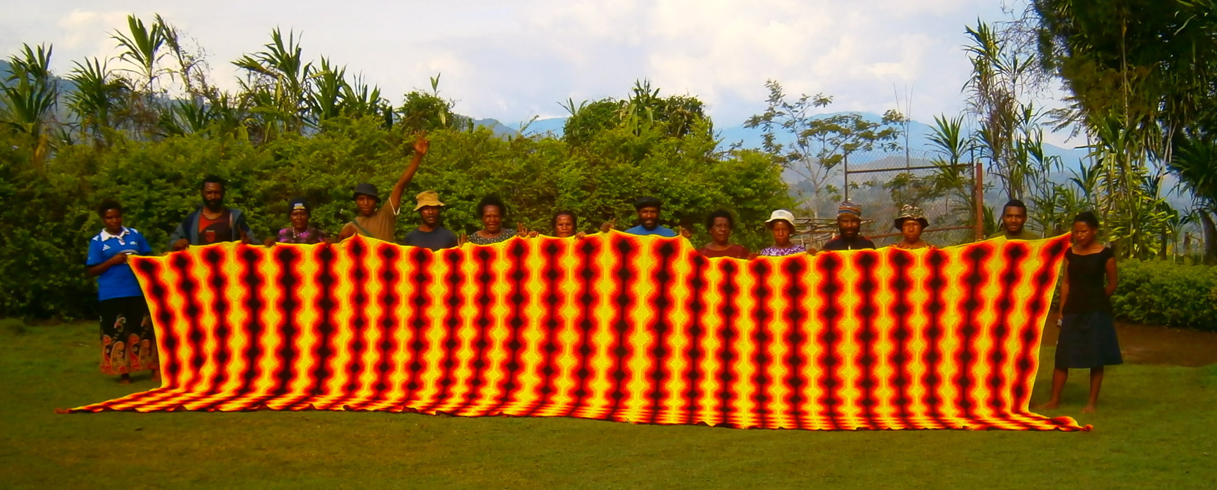 The Kalibobo bilum in progress. Goroka,New Guinea 2011.