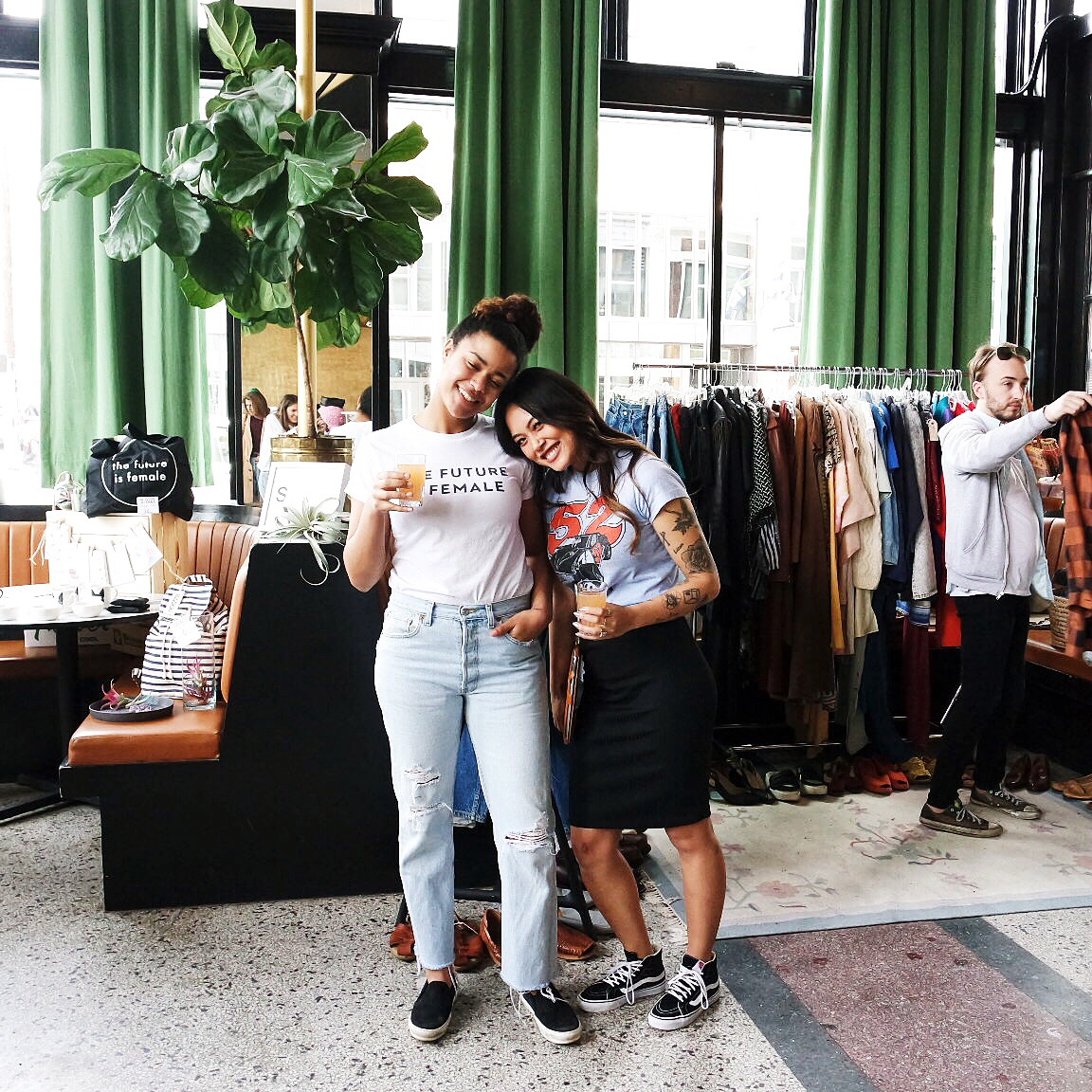 Diamond of  Satori  joined the market the last time around! We were so stoked to have her next to our booth! And the lovely  Anna Mischke  came in as back up for us because Nick wasn't able to make the last market. We love you Anna :) (the dude on the right was just diggin that flannel)