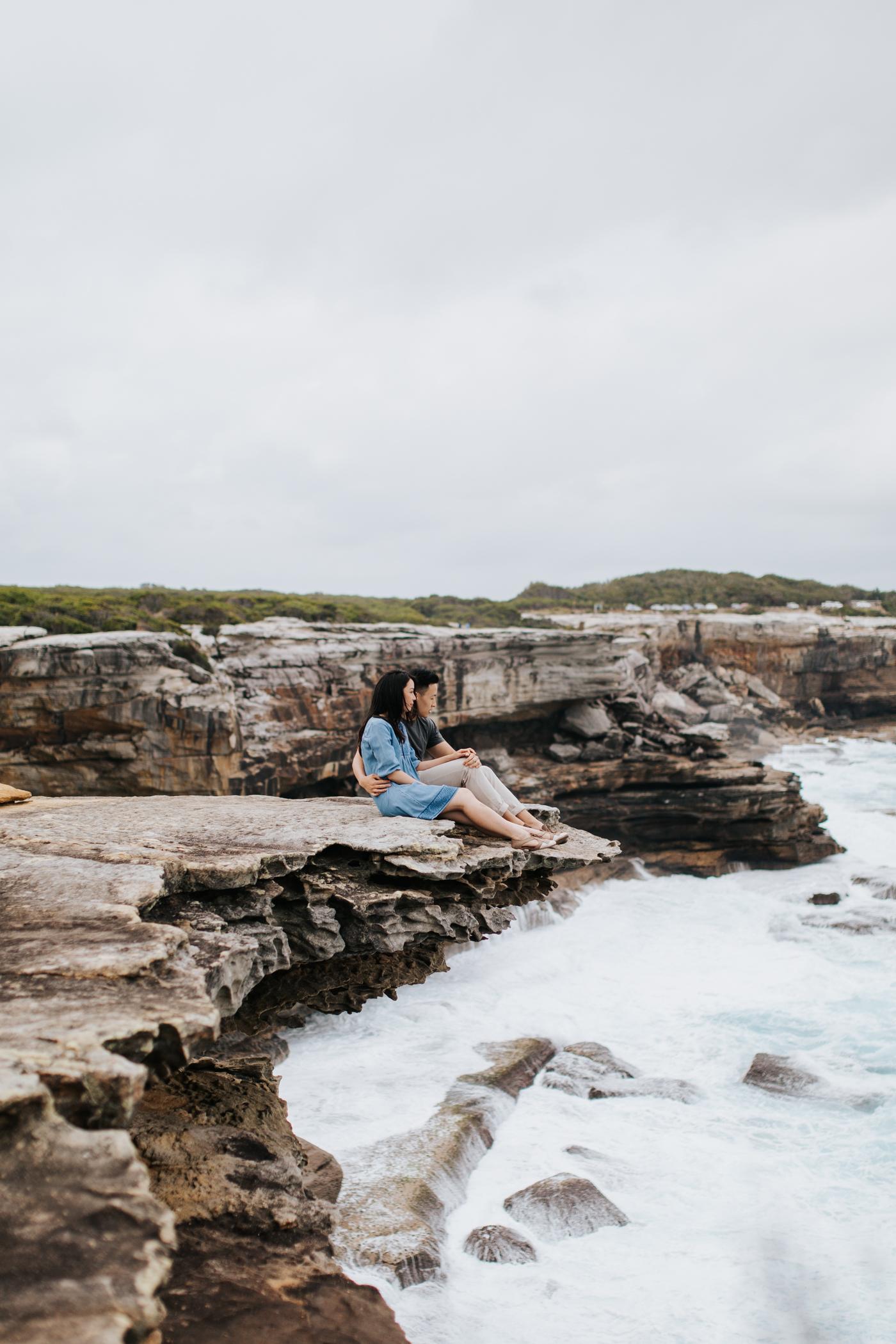Lishien & Jason Engagement - Kurnell Cliffs - Samantha Heather Photography-23.jpg