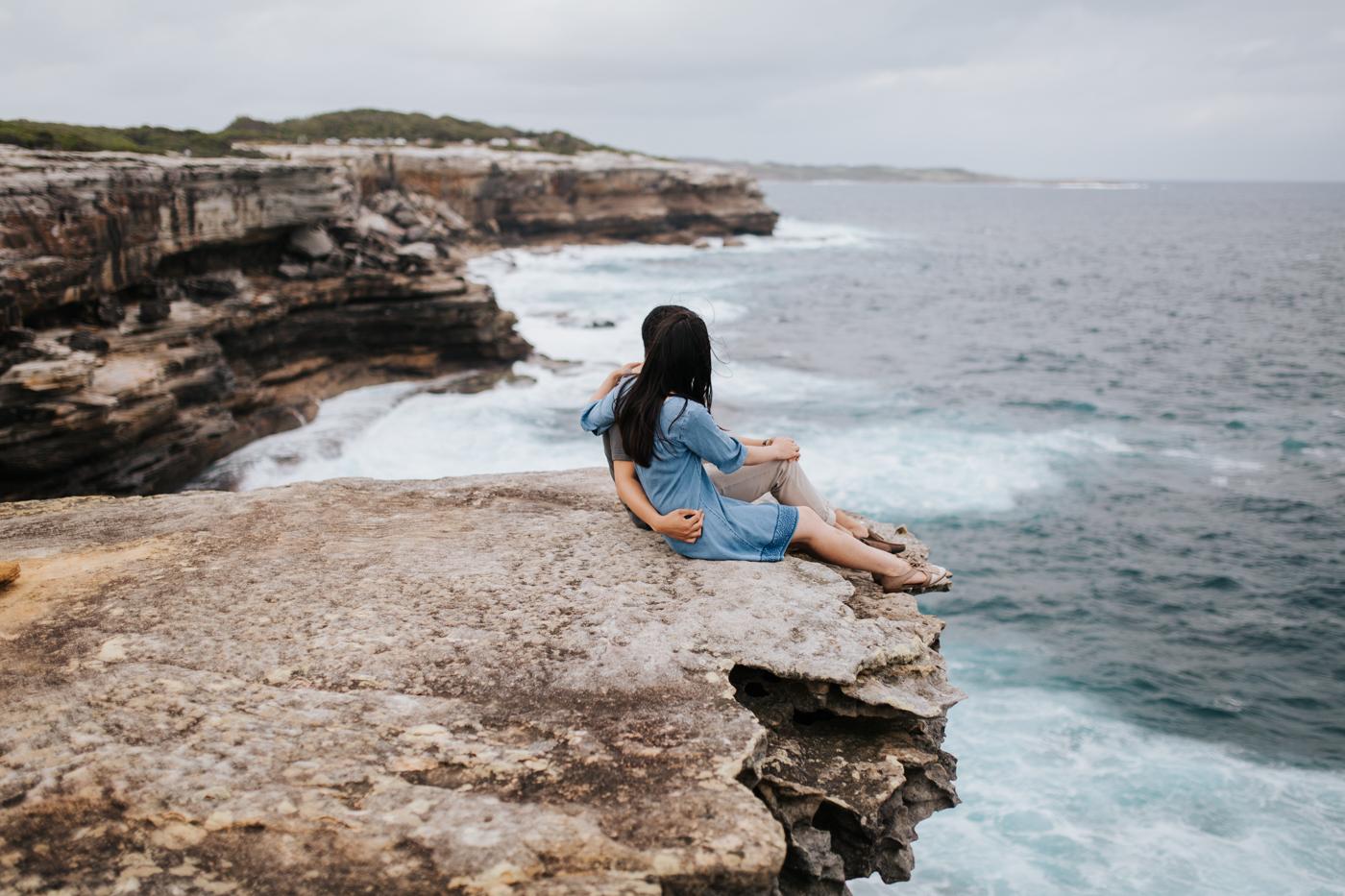 Lishien & Jason Engagement - Kurnell Cliffs - Samantha Heather Photography-24.jpg
