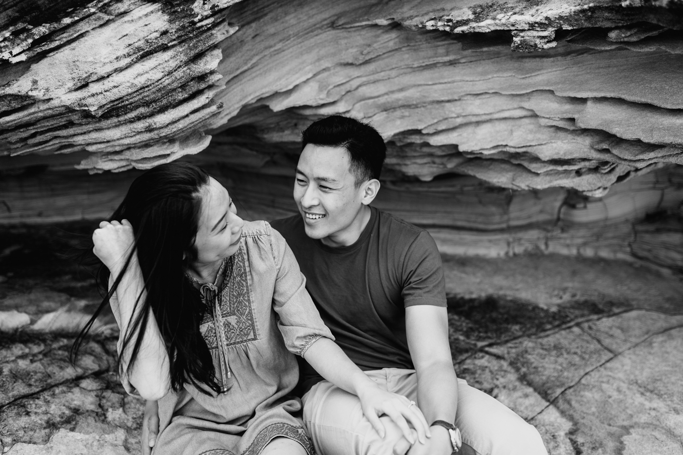 Lishien & Jason Engagement - Kurnell Cliffs - Samantha Heather Photography-42.jpg
