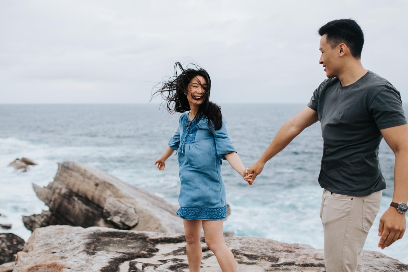 Lishien & Jason Engagement - Kurnell Cliffs - Samantha Heather Photography-65.jpg