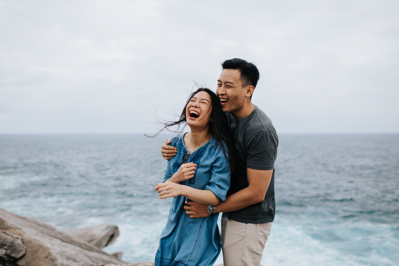 Lishien & Jason Engagement - Kurnell Cliffs - Samantha Heather Photography-67.jpg