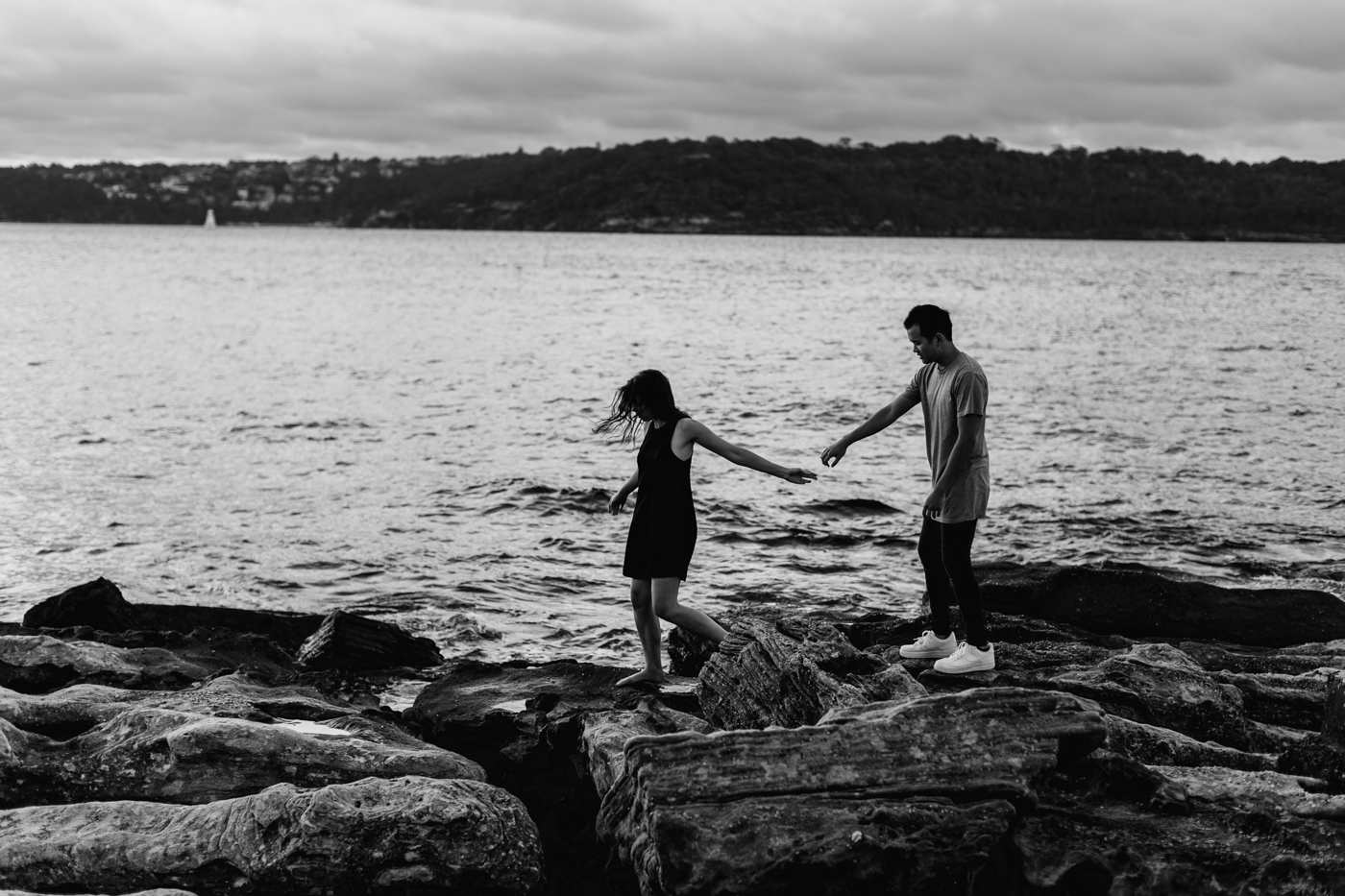 James & Caitie Engagement - Watsons Bay - Samantha Heather Photography-71.jpg