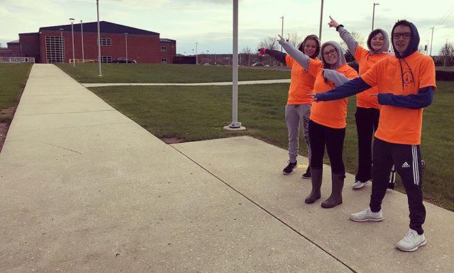 Look for our orange volunteers out on Lewis Rd! 💜🐝#JLS5K #royersford #springford #fundraiser