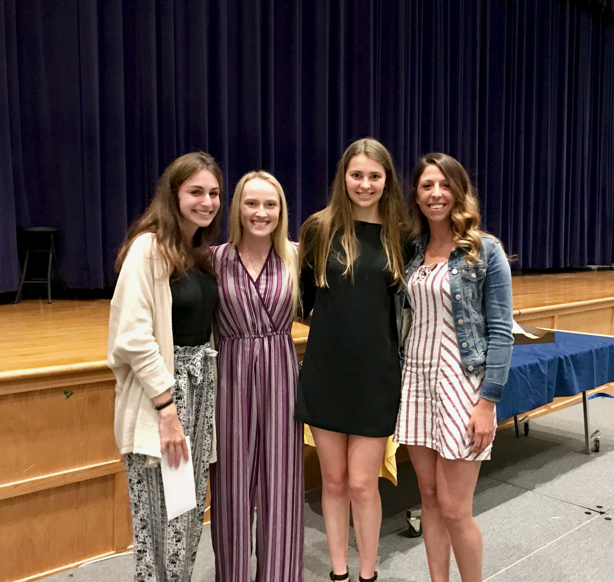 Julianne's friends presenting the 2019 scholarship awards