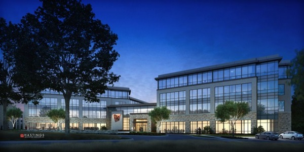 Rendering of the new headquarters. The company currently employs approximately 650 of its total 17,000 team members in its three leased buildings and expects over time to grow to over 1,000 team members in the new facility