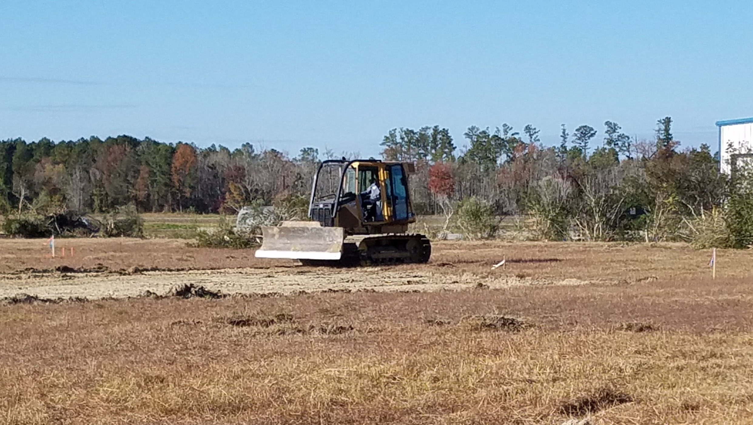 Stevenson Sand performing initial site work