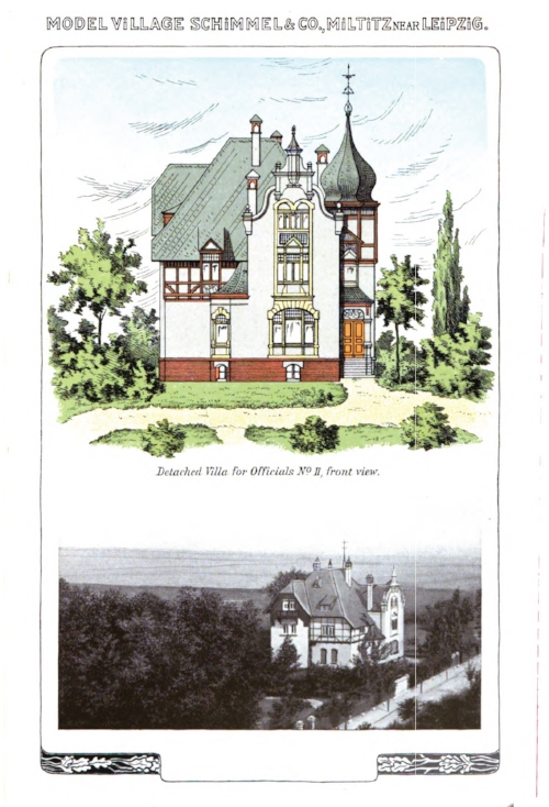 Detached villa for officials. From  Schimmel & Co's Works,  1908.