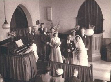 The last wedding in the Tunsgate chapel - August 1953