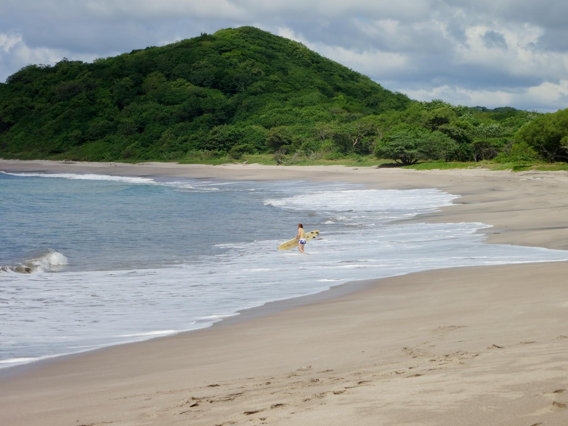 Surfing at Playa Catalina in Nicaragua