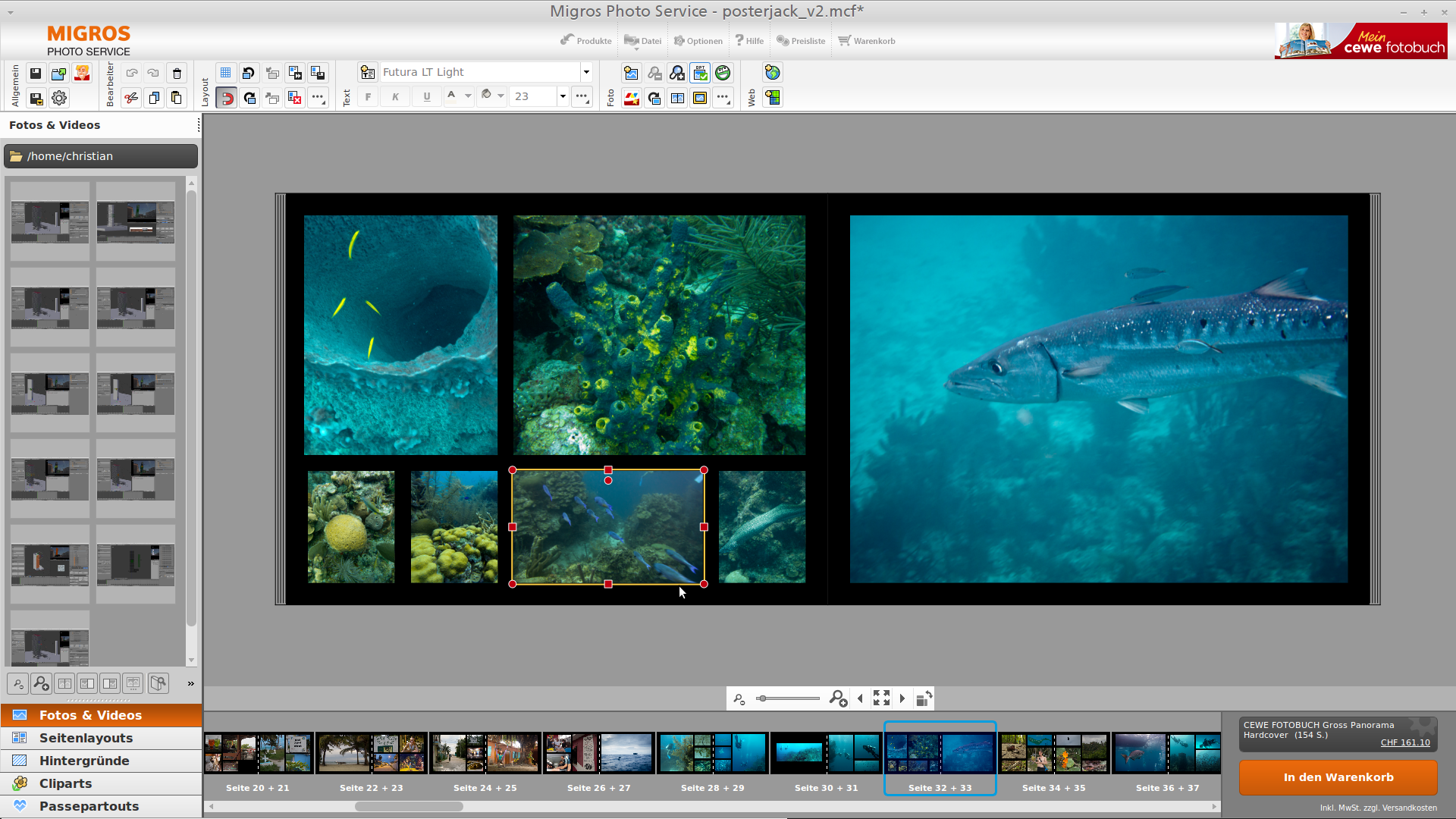 Proprietary photoalbum design software from CEWE