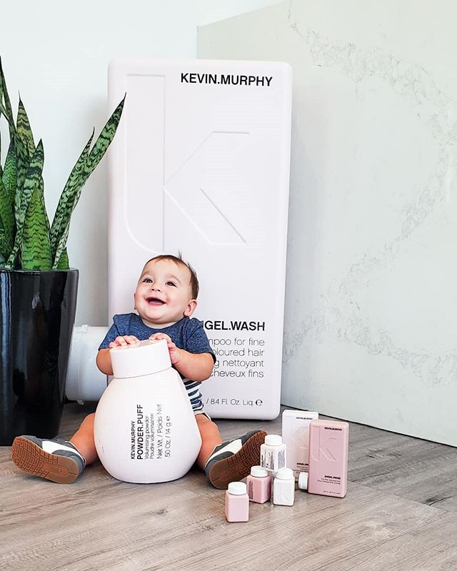 Hey ladies, Boss Baby wants to tell you about our new minis! Traveling and don't want to check your products? Now you can get your favorite KM shampoos in a convenient mini! ⠀⠀⠀⠀⠀⠀⠀⠀⠀ #minime #travelsize @love_kevin_murphy @megandiezsalon