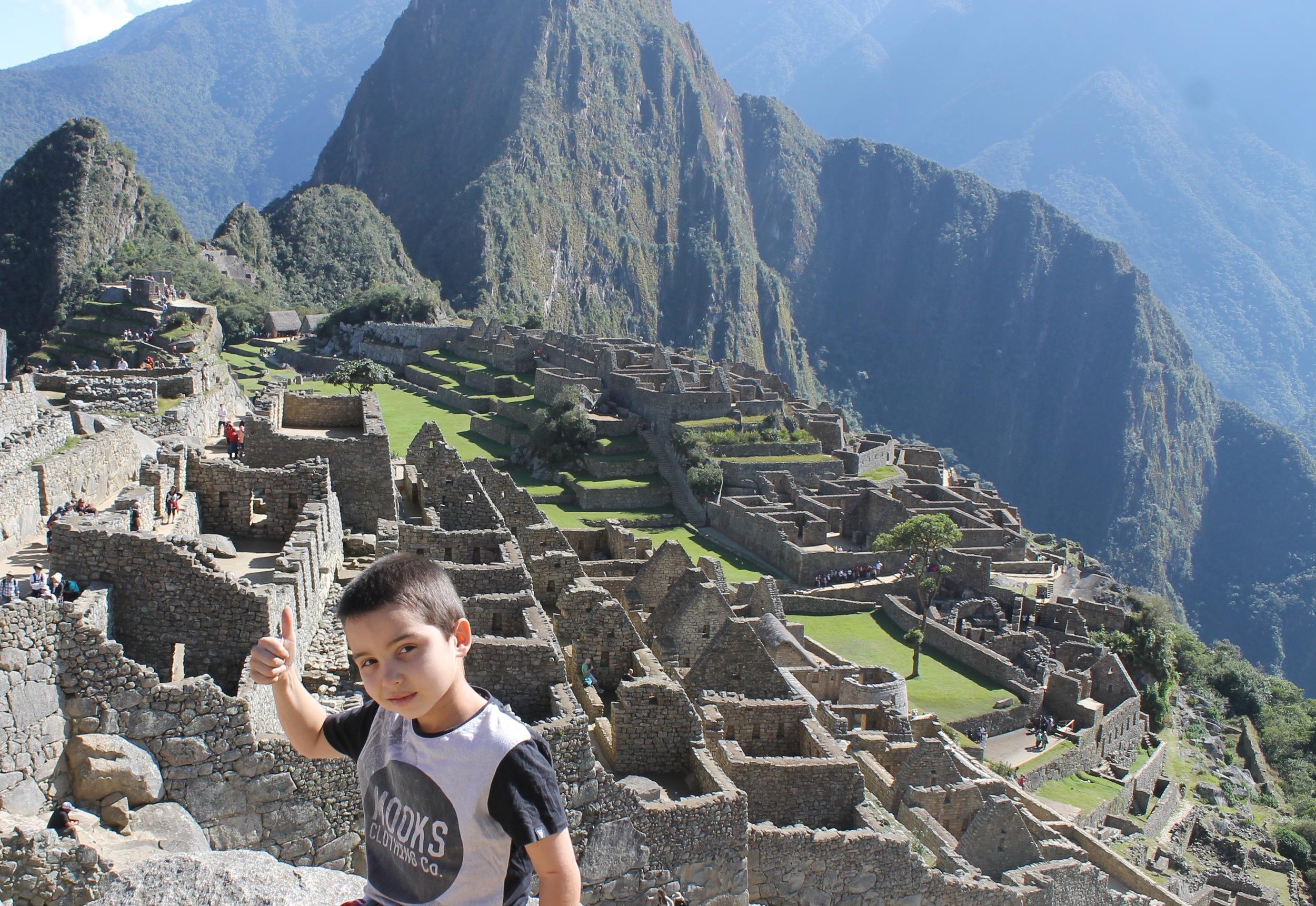 Daniel's impression of Machu Picchu