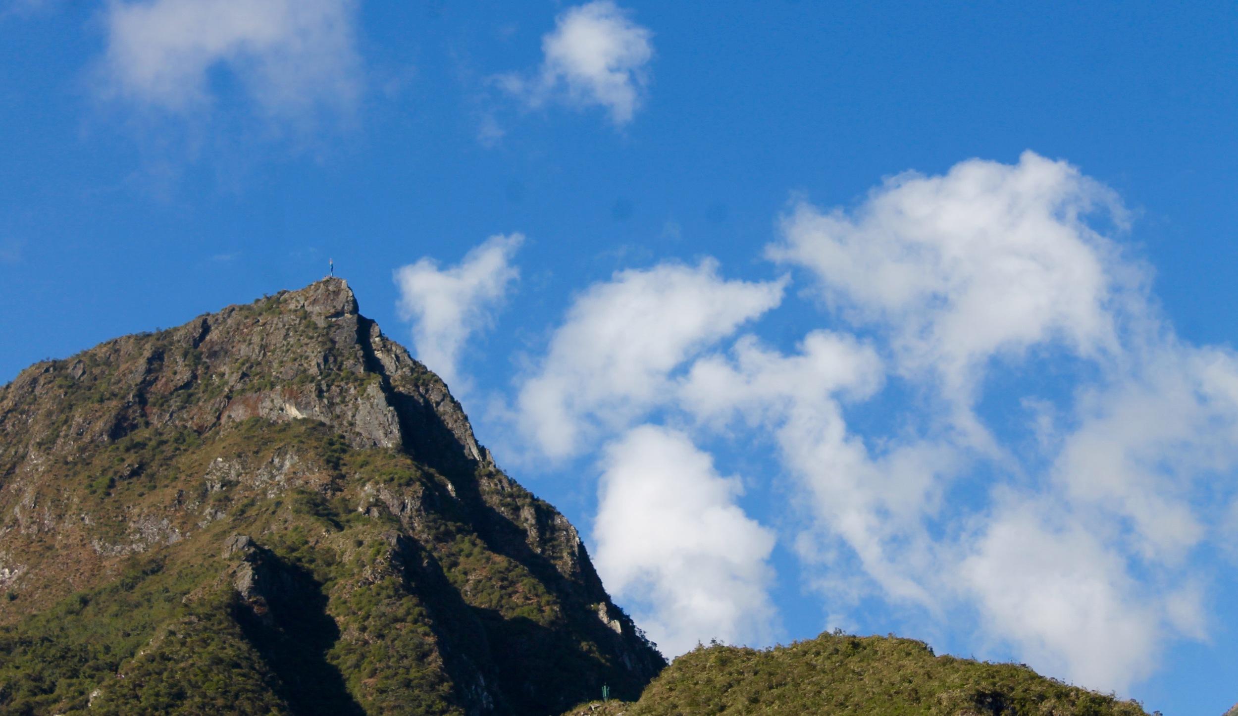 Clouds run fast over Machu Picchu